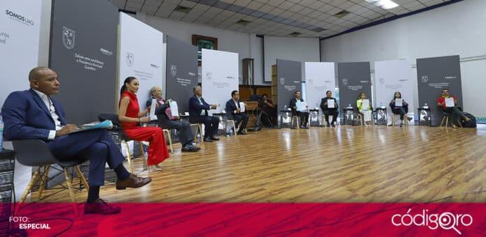 Las candidatas y candidatos a la presidencia municipal de Querétaro debatieron en la UAQ. Foto: Especial