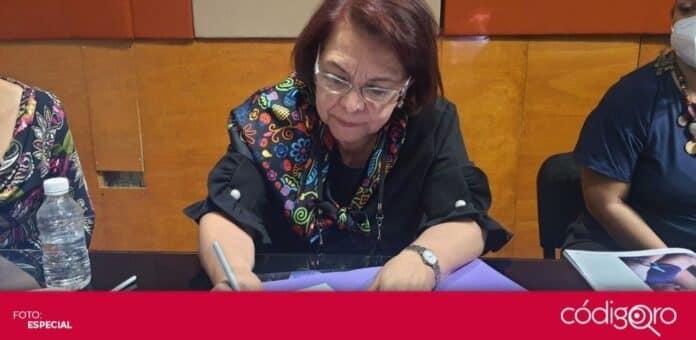 La candidata de Morena a la gubernatura del estado de Querétaro, Celia Maya García, firmó la agenda feminista. Foto: Especial