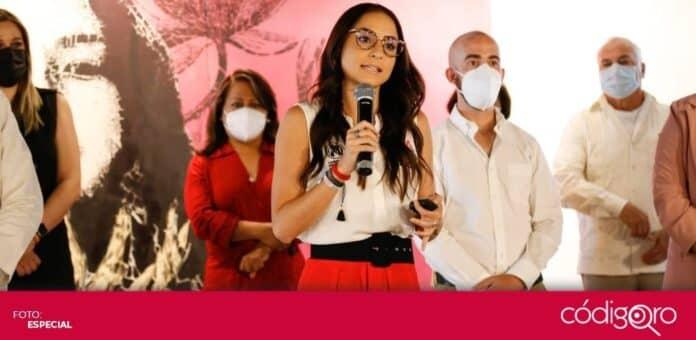La candidata del PRI a la presidencia municipal de Querétaro, María Alemán, propuso la construcción de clínicas postCOVID-19. Foto: Especial