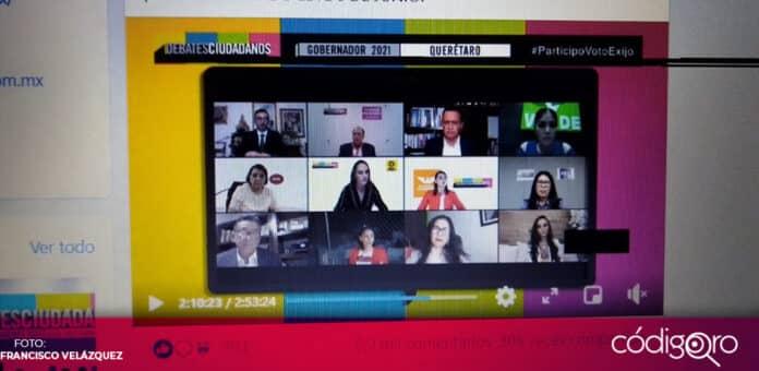 Miguel Nava Alvarado criticó el formato del debate organizado por la Coparmex Querétaro, Foto: Francisco Velázquez