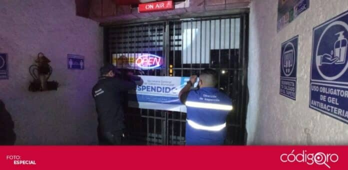 La Dirección de Inspección del Municipio de Querétaro clausuró 4 establecimientos comerciales. Foto: Especial