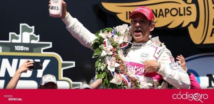 El piloto brasileño Helio Castroneves ganó las 500 Millas de Indianápolis. Foto: Especial