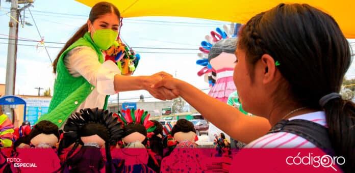 La candidata del PVEM a la gubernatura de Querétaro, Katia Reséndiz, visitó Amealco y Bernal. Foto: Especial