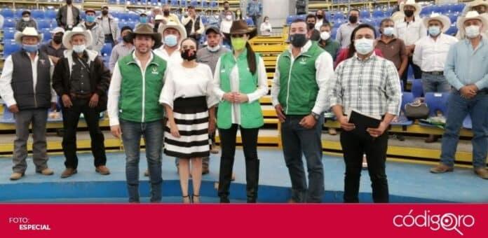 La candidata del PVEM a la gubernatura del estado de Querétaro, Katia Reséndiz Jaime, se reunió con la Unión Ganadera Regional. Foto: Especial
