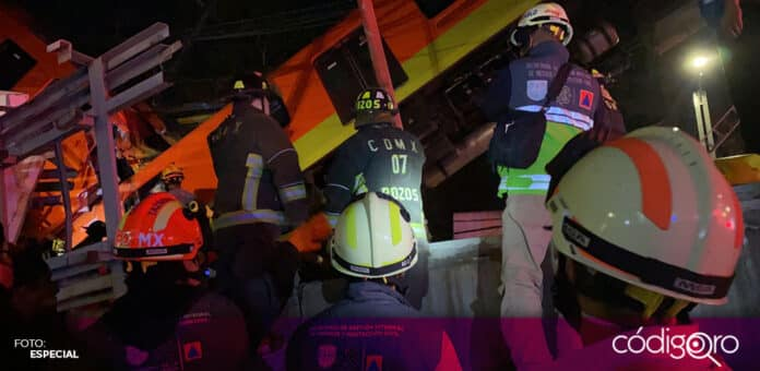 Suman 20 personas muertas y 49 trasladadas a hospitales tras el desplome de la Línea 12 del Metro de la Ciudad de México. Foto: Especial
