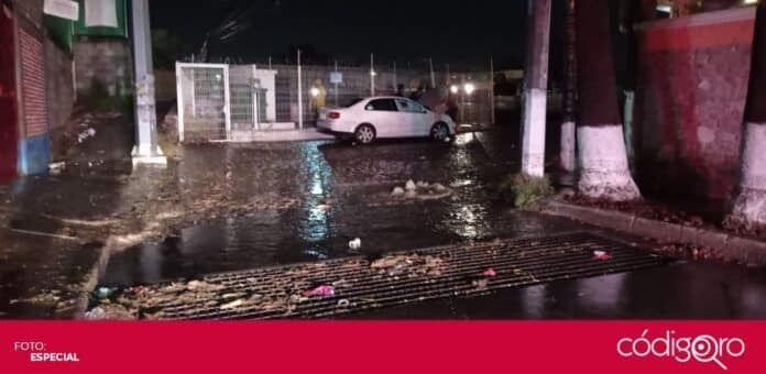 Viviendas de Santa Rosa Jáuregui y Epigmenio González resultaron afectados tras la lluvia. Foto: Especial