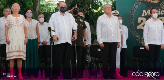 El presidente de México, Andrés Manuel López Obrador, ofreció disculpas a las pueblos mayas. Foto: Especial