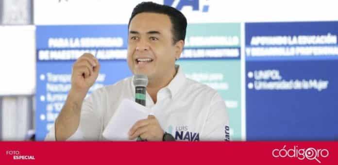 El candidato común del PAN y QI a la presidencia municipal de Querétaro, Luis Bernardo Nava Guerrero, planteó crear una bolsa de trabajo permanente. Foto. Especial
