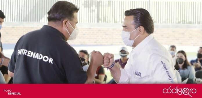 El candidato común del PAN y QI a la presidencia municipal de Querétaro, Luis Bernardo Nava Guerrero, prometió apoyos a deportistas. Foto: Especial