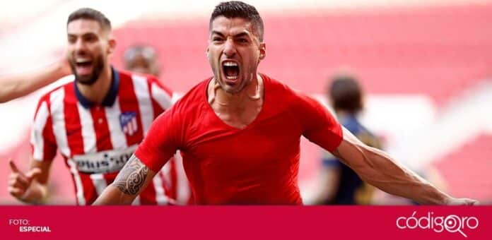 Luis Suárez puso al Atlético de Madrid a una victoria del título de la Liga Española. Foto: Especial
