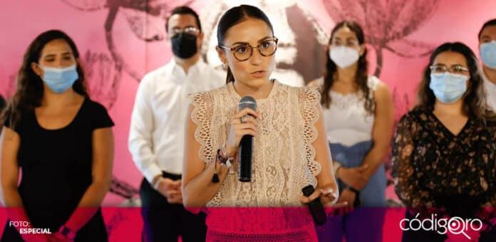 La candidata del PRI a la presidencia municipal de Querétaro, María Alemán, prometió apoyar a los emprendedores. Foto: Especial