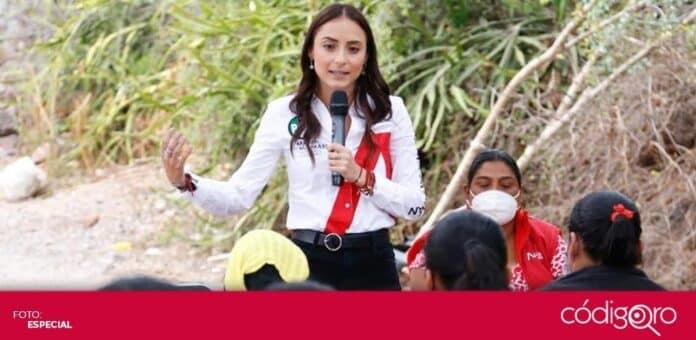 La candidata del PRI a la presidencia municipal de Querétaro, María Alemán Muñoz Castillo, propuso crear una fiscalía especializada en maltrato animal. Foto: Especial