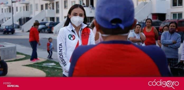 La candidata del PRI a la presidencia municipal de Querétaro, María Alemán, propuso incentivos fiscales para las empresas. Foto: Especial