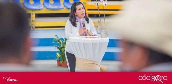 La candidata del PES a la gubernatura, María de Jesús Ibarra Silva, se reunió con la Unión Ganadera Regional de Querétaro. Foto. Especial