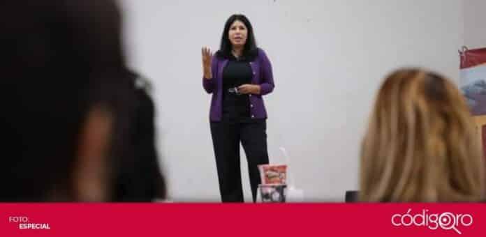 La candidata del PES a la gubernatura del estado de Querétaro, María de Jesús Ibarra Silva, se reunió con mujeres emprendedoras. Foto: Especial
