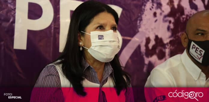 La candidata del PES a la gubernatura de Querétaro, María de Jesús Ibarra Silva, planteó que la vacunación contra COVID-19 es clave para reactivar la economía. Foto: Especial