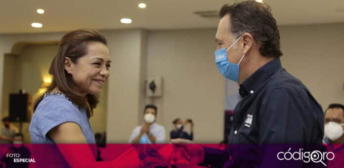 Josefina Vázquez Mota expresó su apoyo al candidato común del PAN y QI a la gubernatura, Mauricio Kuri González. Foto: Especial