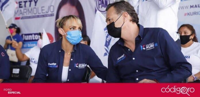 El candidato común del PAN y QI a la gubernatura, Mauricio Kuri González, propuso apoyos a la empresas que contraten a personas con discapacidad. Foto: Especial