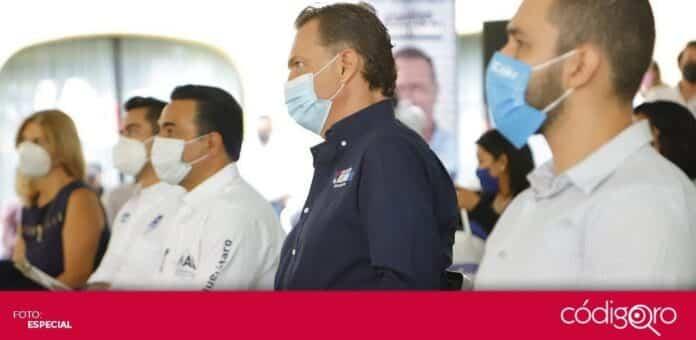 Mauricio Kuri González, candidato común del PAN y QI a la gubernatura, se reunió con maestras y maestros. Foto: Especial