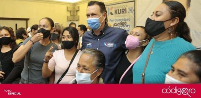 El candidato común del PAN y Querétaro Independiente a la gubernatura, Mauricio Kuri González, se reunió con líderes agrarios. Foto: Especial