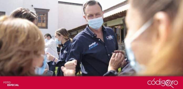 El candidato común del PAN y QI a la gubernatura, Mauricio Kuri González, prometió atender las necesidades de los trabajadores del sector salud. Foto: Especial