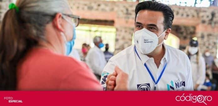 El candidato común del PAN y QI a la presidencia municipal de Querétaro, Luis Bernardo Nava Guerrero, propuso un Polideportivo para Santa Rosa Jáuregui. Foto: Especial