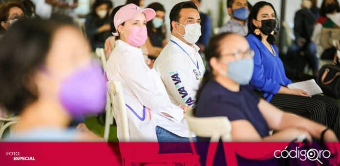El candidato común del PAN y QI a la presidencia municipal de Querétaro, Luis Bernardo Nava Guerrero, se reunió con asociaciones civiles. Foto: Especial