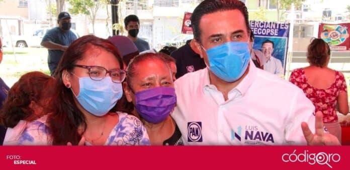 El candidato común del PAN y QI a la presidencia municipal de Querétaro, Luis Bernardo Nava Guerrero, prometió construir el Centro para la Innovación y la Creatividad. Foto: Especial