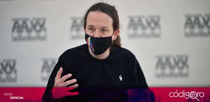 El fundador de Podemos, Pablo Iglesias, anunció su retiro de la política tras las elecciones de Madrid. Foto: Especial