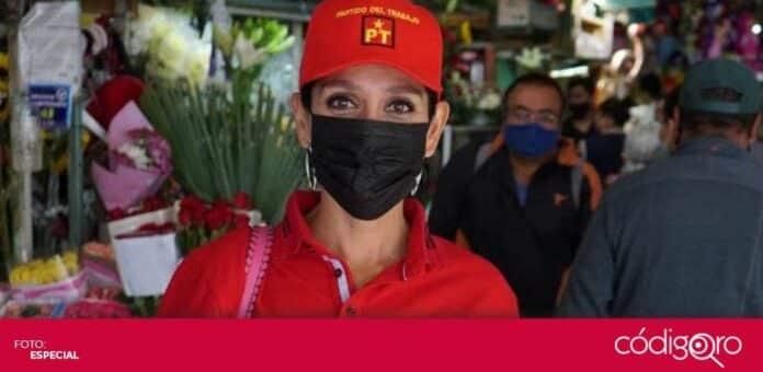 La candidata del PT a la gubernatura del estado de Querétaro, Penélope Ramírez Manríquez, recorrió diferentes colonias. Foto: Especial