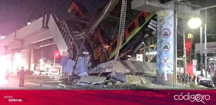 Un tren cayó como consecuencia del colapso de un puente de la Línea 12 del Metro de la Ciudad de México. Foto: Especial