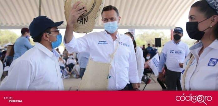 El candidato común del PAN y QI a la gubernatura, Mauricio Kuri González, presentó el modelo turístico Querétaro 5.0. Foto: Especial