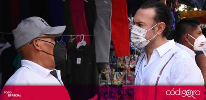 El candidato de Morena a la presidencia municipal de Querétaro, Arturo Maximiliano, propuso un plan de reactivación económica. Foto: Especial