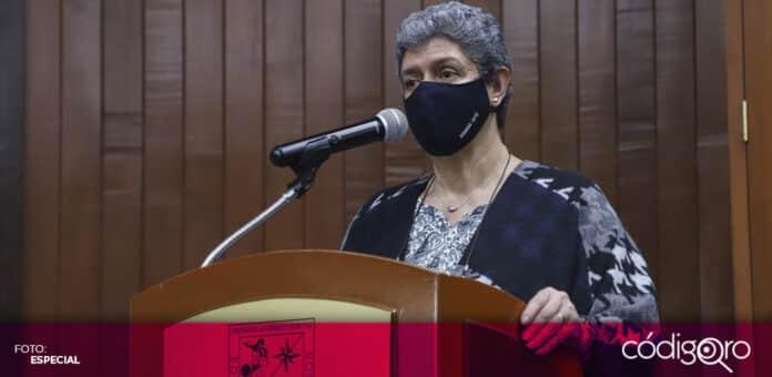 La rectora de la UAQ, Teresa García Gasca, pidió que las campañas aborden temas en materia de educación. Foto: Especial