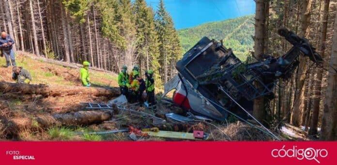 Un teleférico se estrelló en una montaña del norte de Italia. Foto: Especial