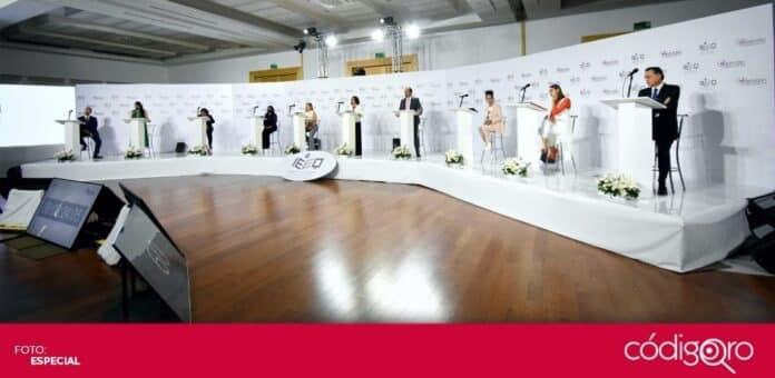 El IEEQ realizó el segundo debate entre las candidatas y candidatos a la gubernatura del estado de Querétaro. Foto: Especial