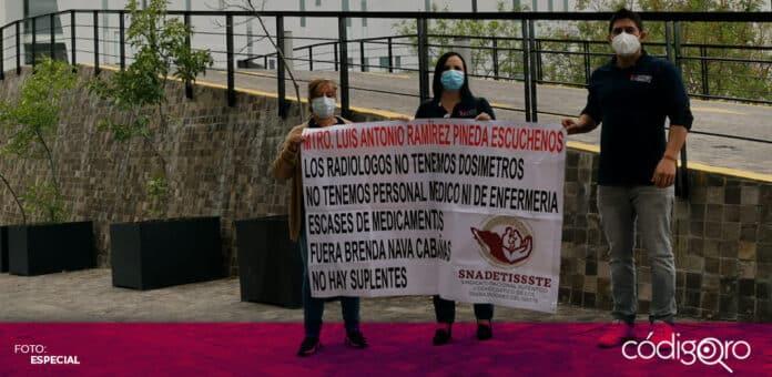 Trabajadores del ISSSTE expusieron una serie de irregularidades en el estado de Querétaro. Foto: Katia Lemus