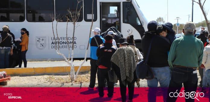 La UAQ transportará a su personal académico y administrativo al Eco Centro para ser vacunado contra COVID-19. Foto: Especial