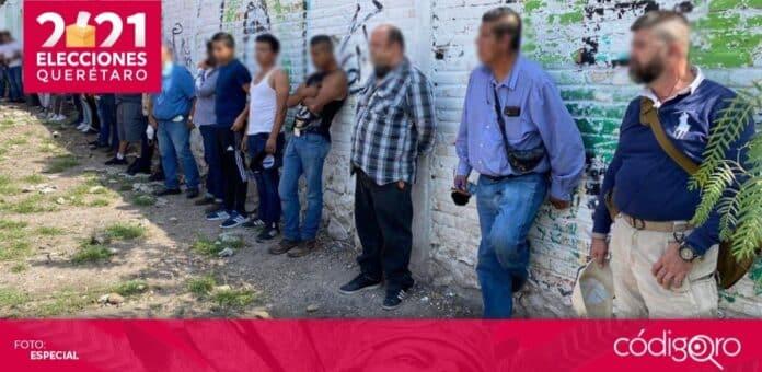 En Corregidora, fueron detenidas 23 personas por presuntamente intimidar a electores. Foto: Especial