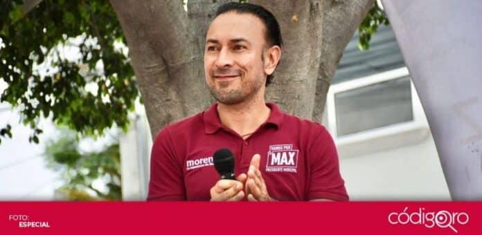 El candidato de Morena a la presidencia municipal de Querétaro, Arturo Maximiliano, pidió a los ciudadanos votar con responsabilidad. Foto: Especial