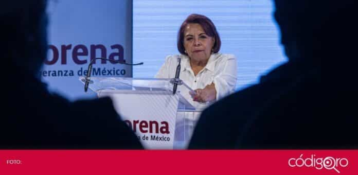 La candidata de Morena a la gubernatura de Querétaro, Celia Maya García, hizo un llamado a los indecisos a votar. Foto: Obture Press