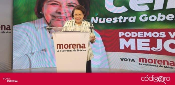 La candidata de Morena a la gubernatura de Querétaro, Celia Maya García, se declaró lista para defender el voto. Foto: Especial