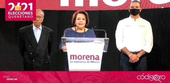 La candidata de Morena a la gubernatura de Querétaro, Celia Maya García, aún no decide si impugnará o no la elección. Foto: Especial