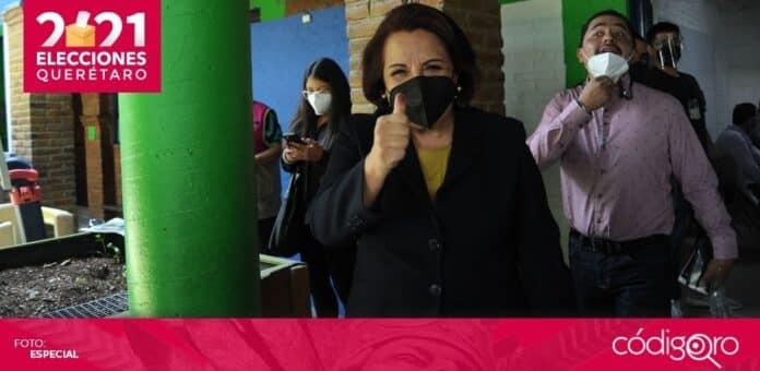 La candidata de Morena a la gubernatura del estado de Querétaro, Celia Maya García, pidió esperar a los resultados oficiales. Foto: Obture Press