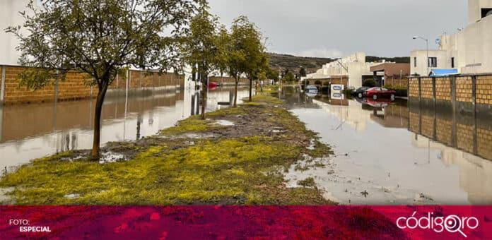 Durante esta madrugada, se registró una intensa lluvia en la zona metropolitana de Querétaro. Foto: Especial