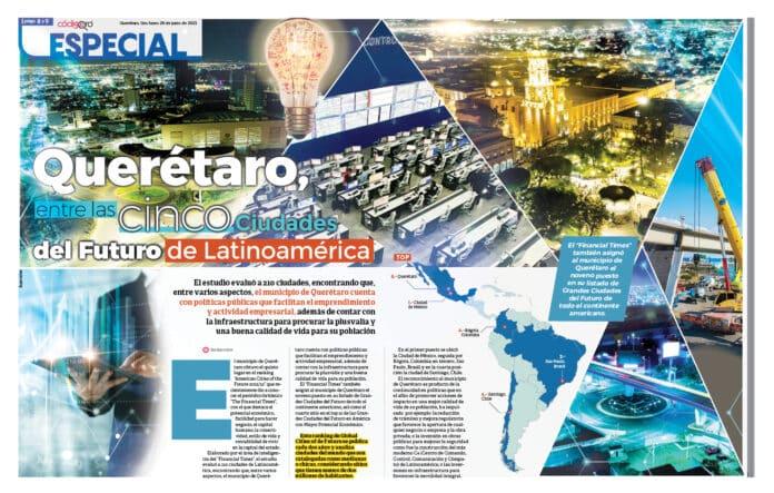 El municipio de Querétaro es una de las Ciudades del Futuro de América Latina