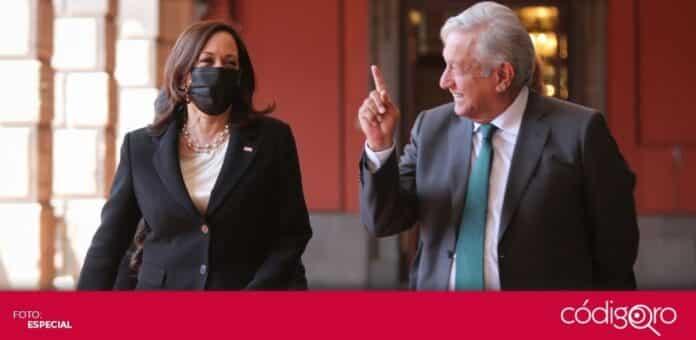 La vicepresidenta de Estados Unidos, Kamala Harris, se reunió con el presidente de México, Andrés Manuel López Obrador. Foto: Especial