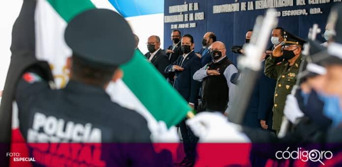 El gobernador de Querétaro, Francisco Domínguez Servién, inauguró la rehabilitación del Centro de la Coordinación Estatal de Protección Civil. Foto: Especial