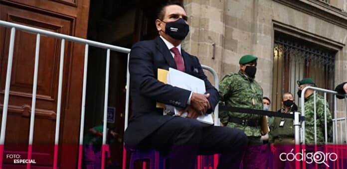 El gobernador de Michoacán, Silvano Aureoles, se presentó a las afueras de Palacio Nacional. Foto: Especial