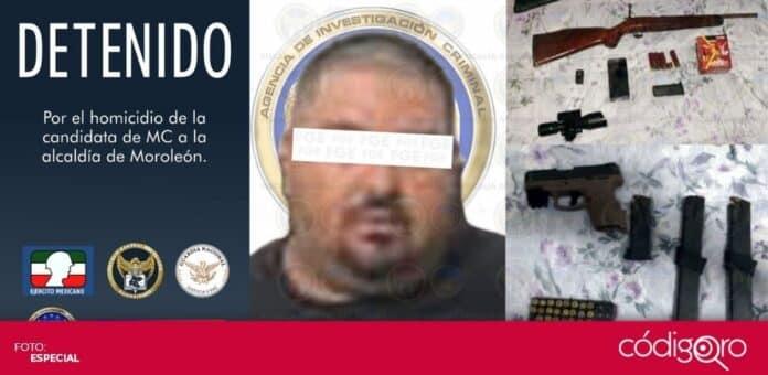 Fue detenido el presunto homicida de la candidata de Movimiento Ciudadano a la presidencia municipal de Moroleón. Foto: Especial